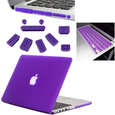 13-Inch Rubberized Hard Case, Silicone Keyboard Guard And Anti dust Ports With Retina Display Shell Covers Combo Set