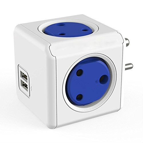4 Way Two USB Port Wall Adapter