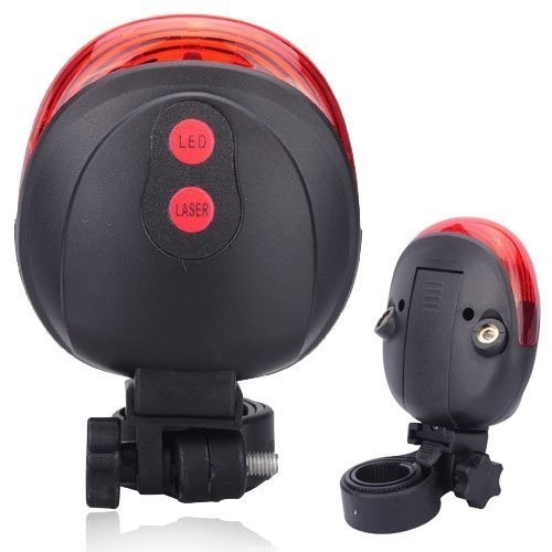 Bike and Bicycle 2 Laser Beam and 5 LED Rear Break Light