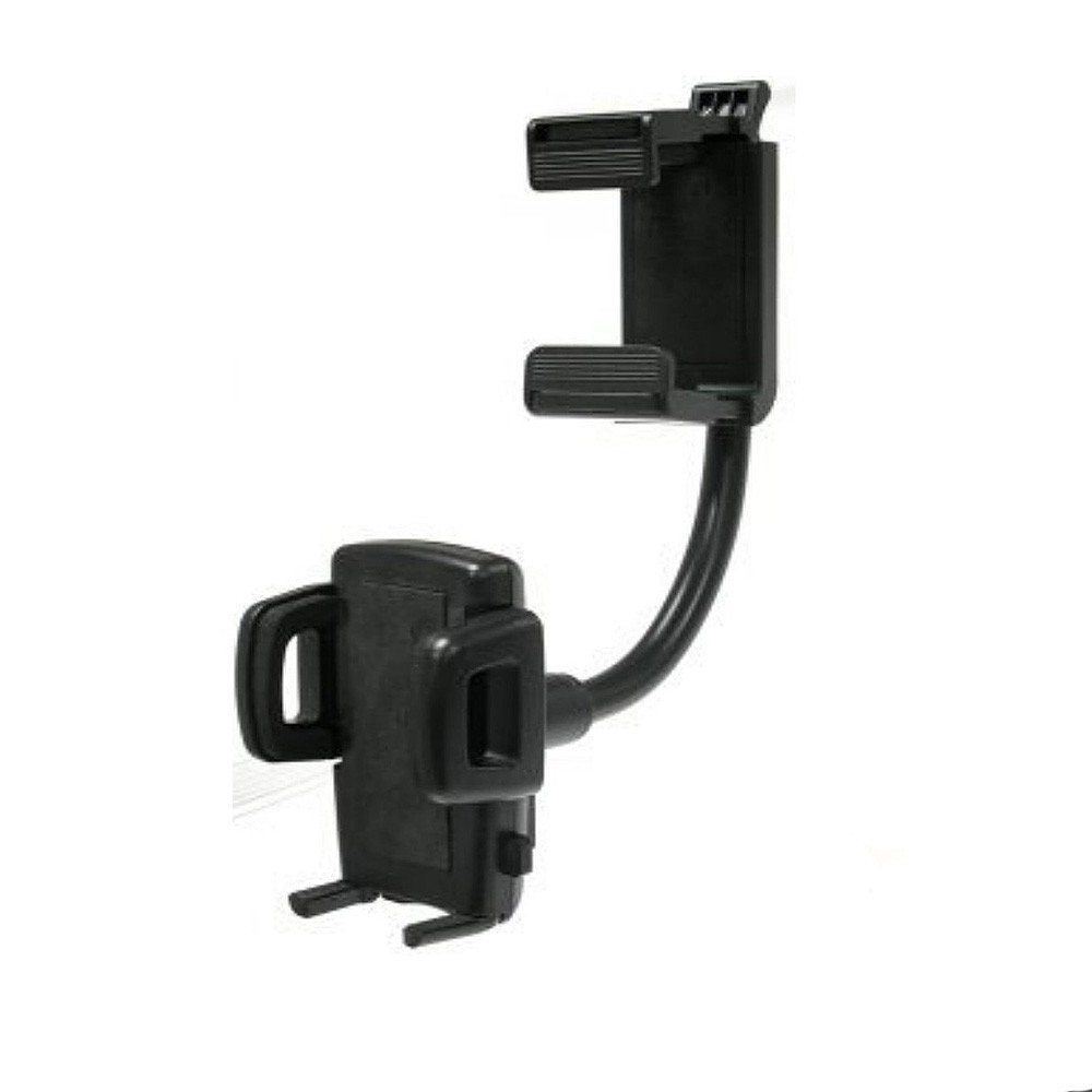 Car Rear View Mirror Universal Mobile Mount Holder With Flexible Goose Neck