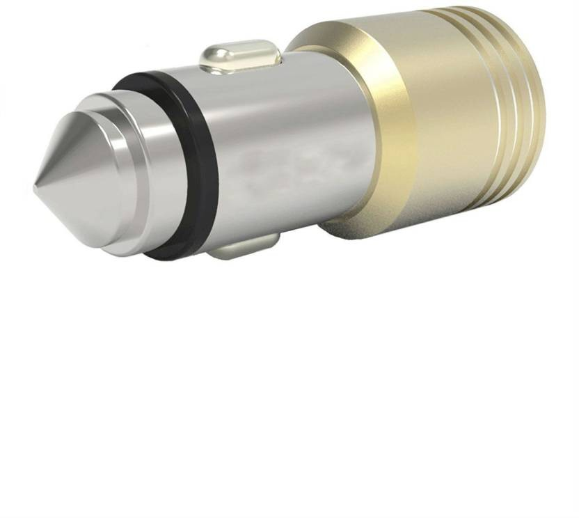 Gold Dual USB 4.8Amp Car Charger With Glass Breaker Steel Tip