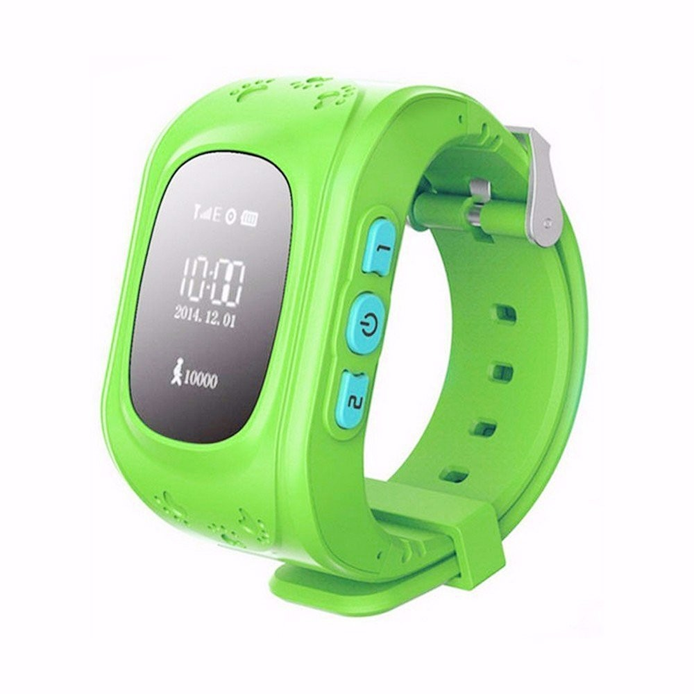 Green Color Kids Precise GPS Tracking Smartwatch