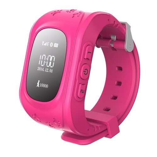 Pink Color Kids Precise GPS Tracking Smartwatch