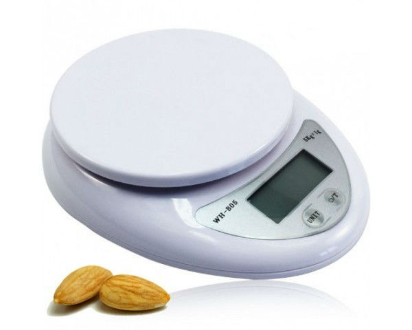 High Quality Electronic Kitchen Scale 5kg - White