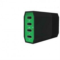 Green Black 4 Ports 6Amp USB Charging Hub