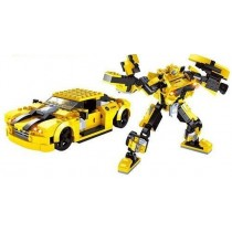 2 in 1 Yellow Transformer Block Set