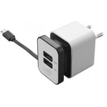 2 Port Travel Dual USB Adapter