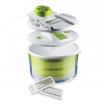 4 in 1 Vegetable Salad Spinner with Slicer and Storage Lid