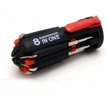 8 in 1 Multi-function Screwdriver Kit With 6 LED Light Torch.