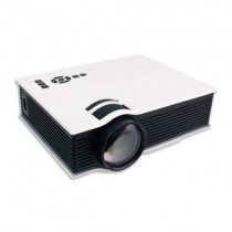 White LED Corded And Cordless Portable Projector