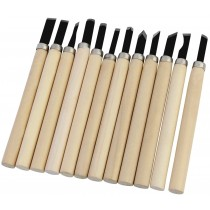 Set of 12 Pcs Wood Carving Hand Chisels Knife Tools
