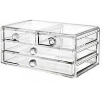 Acrylic Organizer With 4 Drawers Cosmetic And Jewelry Vanity Box