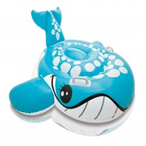 Bashful Blue Whale Inflatable Ride-On Pool Beach Float