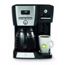 Black 12-Cup Programmable Coffee Maker