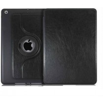 Black 360 Degree Leather Case Cover for Apple Ipad Air