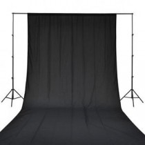 Black 8X12 Photography Background Backdrop