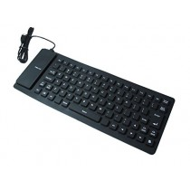 Black Flexible Silicon USB Keyboard