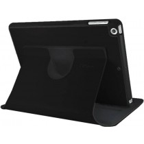 Black Leather 360 Degree Rotatable Slim Portfolio Case for Apple iPad Air