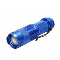 Blue Pocket LED Mini Flashlight Torch