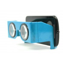 Blue Virtual Reality 3D And Headset Video Glasses