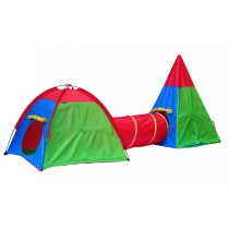 Dome Tepee Pop Up Tent & Tunnel Adventure Play Set.