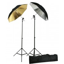 Double Off Camera Flash Photography Shoe Mount Swivel Bracket Umbrellas