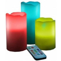 Flameless Scented 12 Color Changing LED With Remote Control Candle