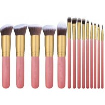 Foundation Blending Blush Eyeliner Face Powder Brush Makeup Kit(Pack of 14)
