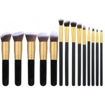 Foundations Concealers Eye Shadows 14 Pcs Makeup Brush Set.