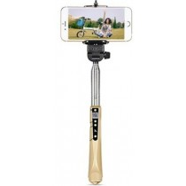 Gold Selfie Stick With Built-in Bluetooth For IOS