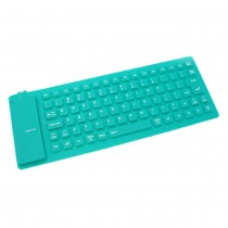 Green Flexible USB Keyboard