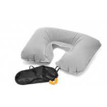 Inflatable Air Cushion, Eye Mask and 2 Ear Plug Neck Pillow