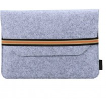 Light Grey 13.3 inch Protective Felt Laptop Sleeve