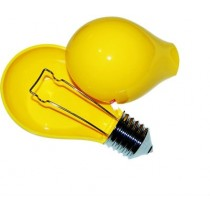 Modern Light Bulb Design Yellow Plastic Ashtray