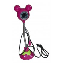 PINK COLOR 5.0 MP CAMERA MICKEY MOUSE SHAPED WEBCAM