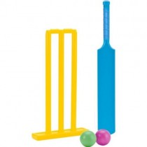 Plastic Cricket Bat Balls & Stumps Set.
