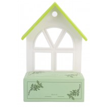 Plastic House Shaped Pot Basil Home Plant Growing Kit