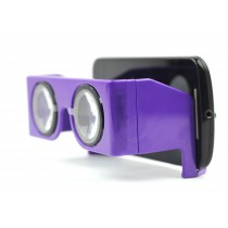 Purple Virtual Reality 3D And VR Headset Video Glasses