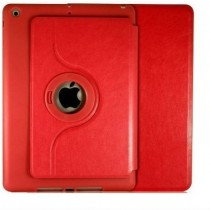 Red 360 Degree Leather Case Cover for Apple Ipad Air