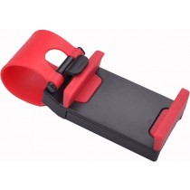 Red 4.8 Inch Car Steering Wheel Mobile Holder