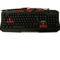 Red & Black 104 Keys Multimedia Keyboard