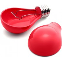 Red Durable Light Bulb Design Ashtray