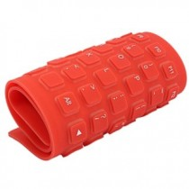 Red Flexible USB Keyboard