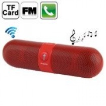 Red Multi-Function Bluetooth Speaker with FM Radio
