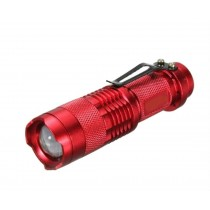 Red Pocket LED Mini Flashlight Torch