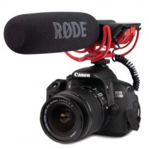 Rode Video Mic On  DSLR Camera With Microphone
