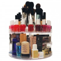 Rotating And Holds Up To 200 Items Spins 360 Degrees Cosmetic Organizer Box