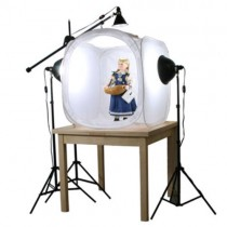 Round folding Photo Studio Tent Softbox Light Shooting Cube+Backdrops