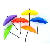 Set of 6 Pcs Umbrella Drop Style Clothes, Key And Hat Wall Hanger Hooks
