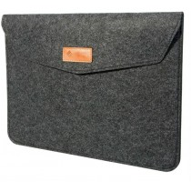 Slate Grey Felt Laptop Sleeve for 15-Inch MacBook Pro & Retina